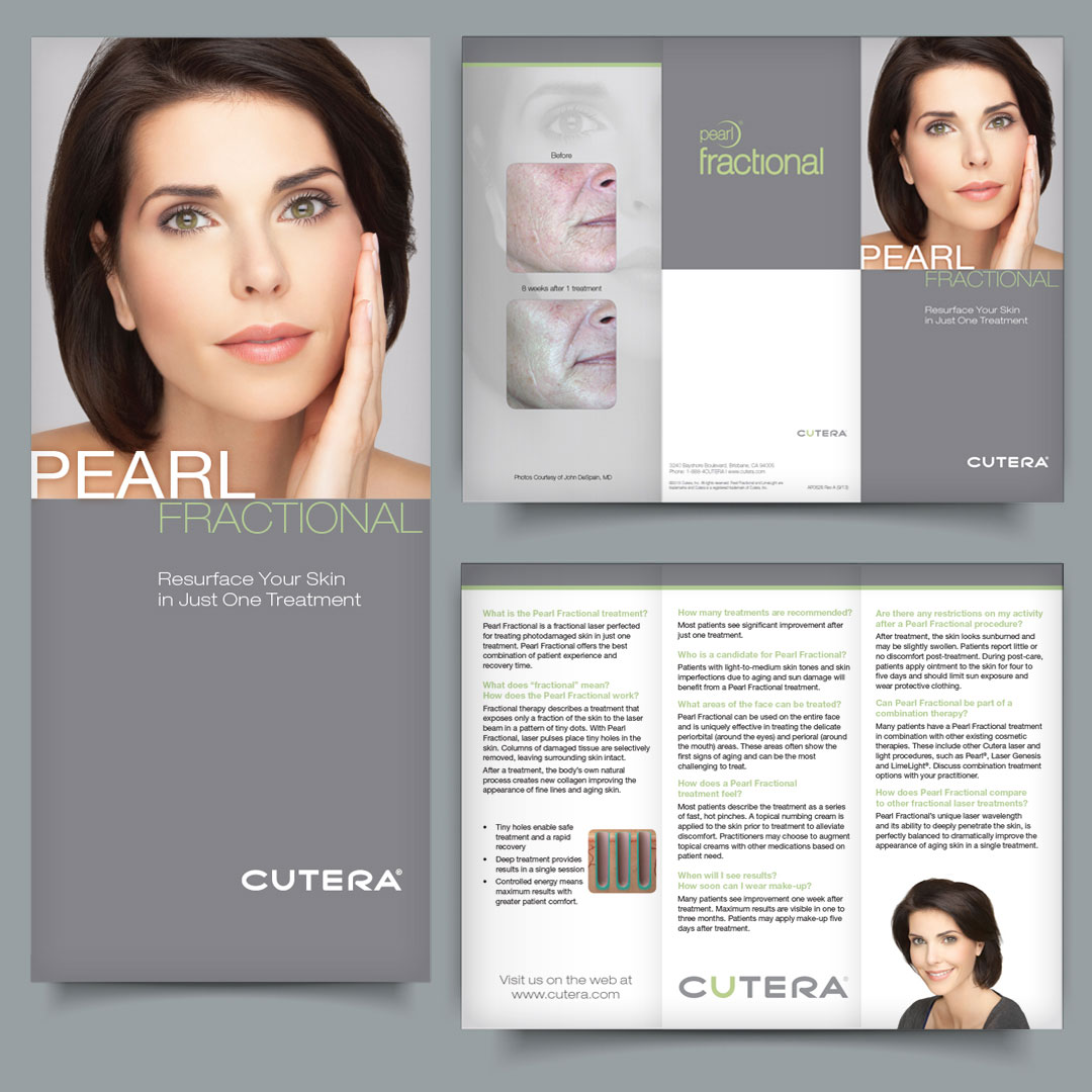 Cosmetic Aesthetic Dermatology Laser Lasers Equipment Brochure Design