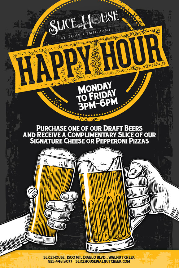 Happy Hour Restaurant Poster Design