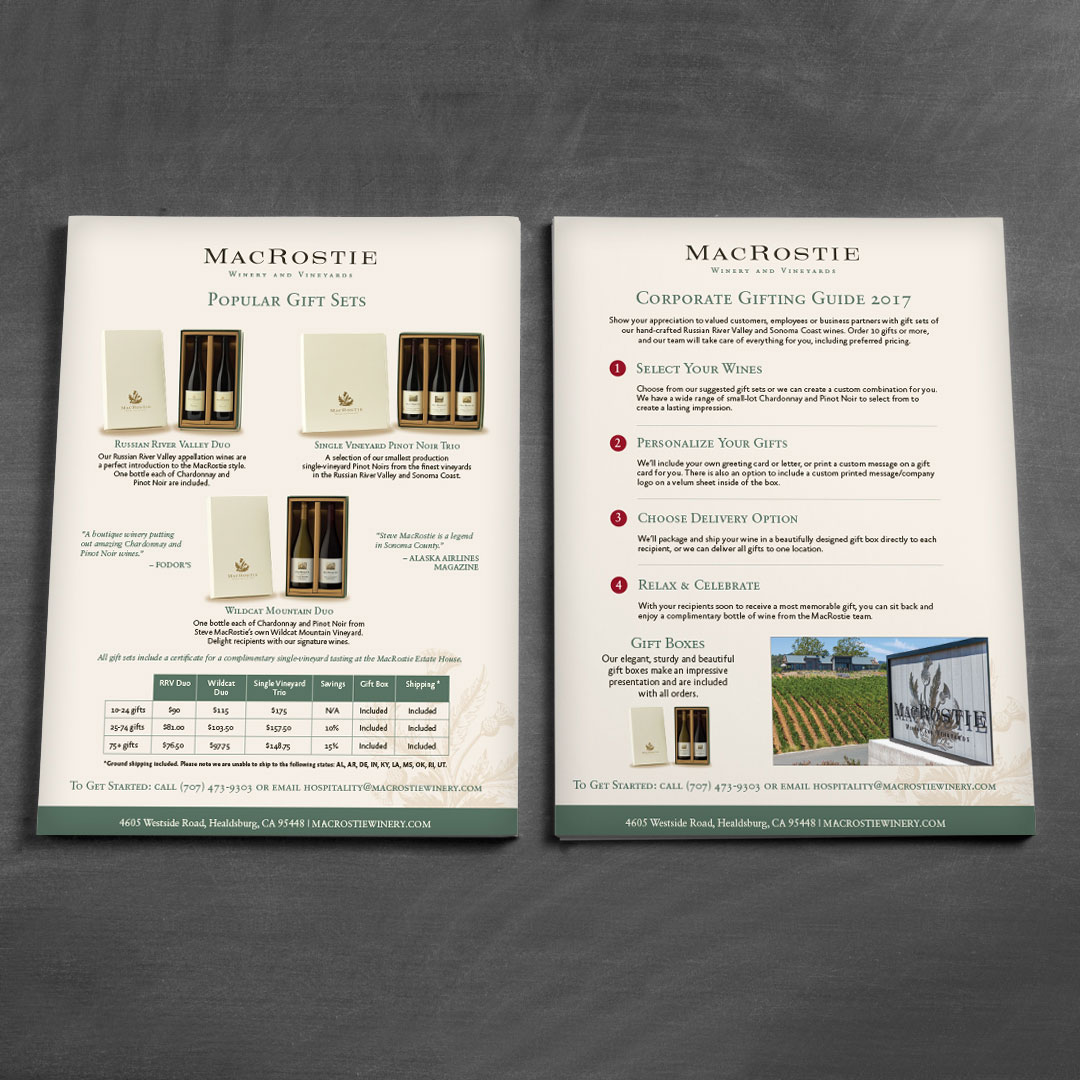 Winery Wine Wines Brochure Design