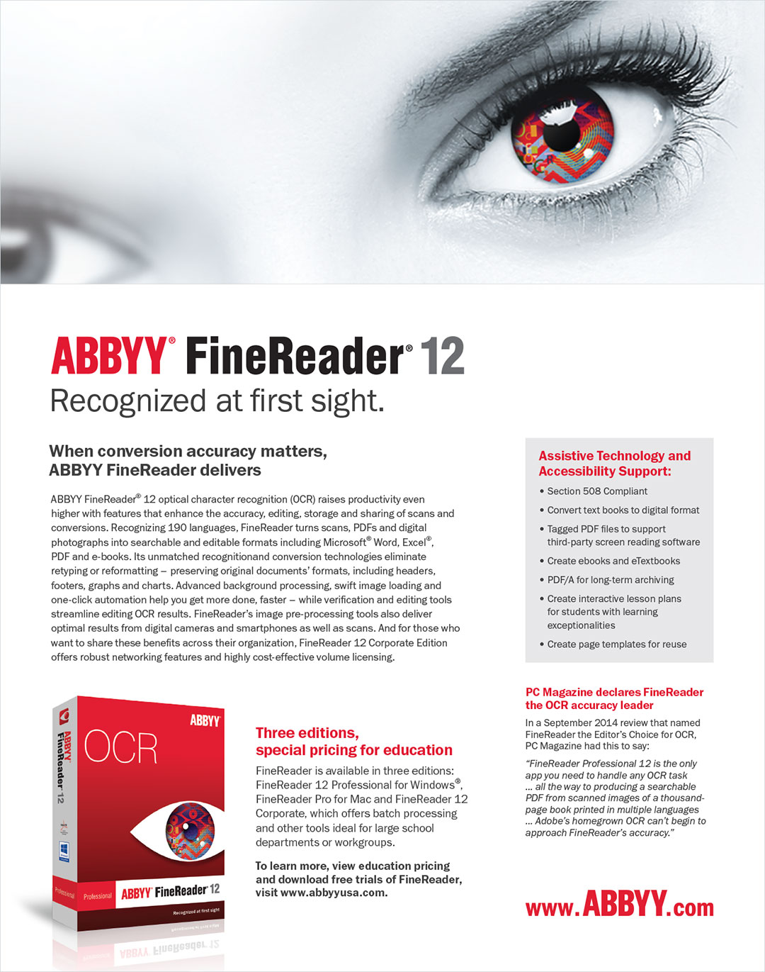 ABBY FineReader Ad Design LunaGraphica