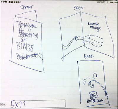 Designer/Client Communication - Rough Sketch Example