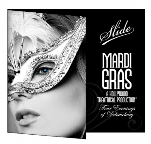 Folded Flyer Design Mardi Gras LunaGraphica