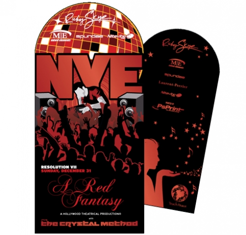 Folded NYE Flyer Die LunaGraphica