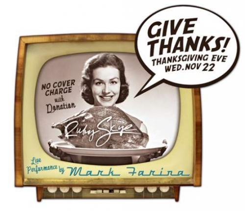 Give Thanks Vintage Diecut Flyer LunaGraphica