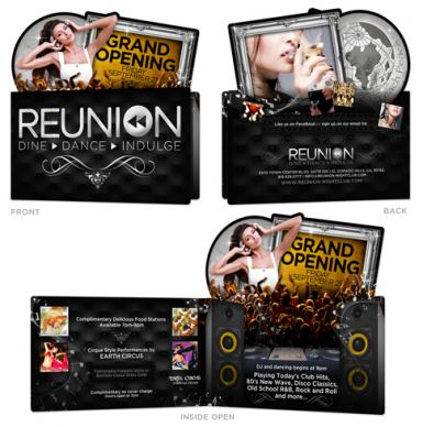 Reunion Grand Opening IDie Cut nvitation LunaGraphica