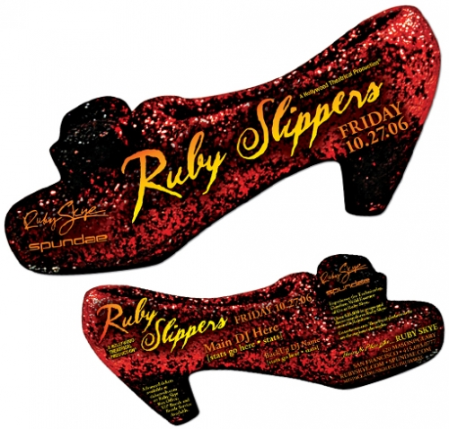 Ruby Slippers Diecut Flyer LunaGraphica