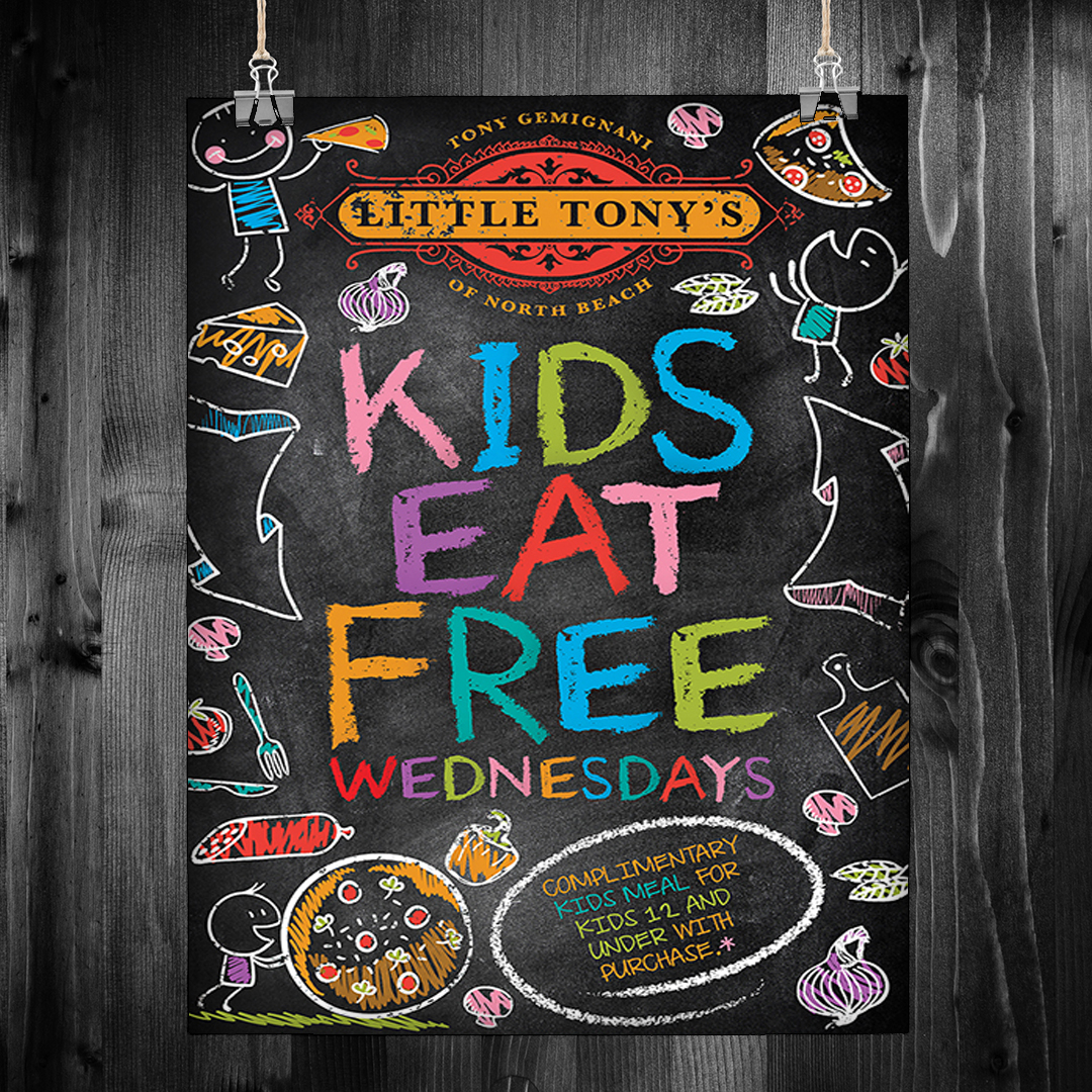 Kids Restaurant Poster Design