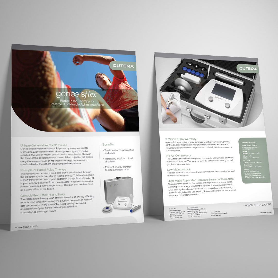 Medical Device Equipment Data Sheet Brochure Design