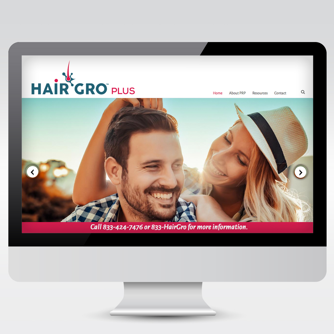 Hair Restoration PRP Website Development Web Design