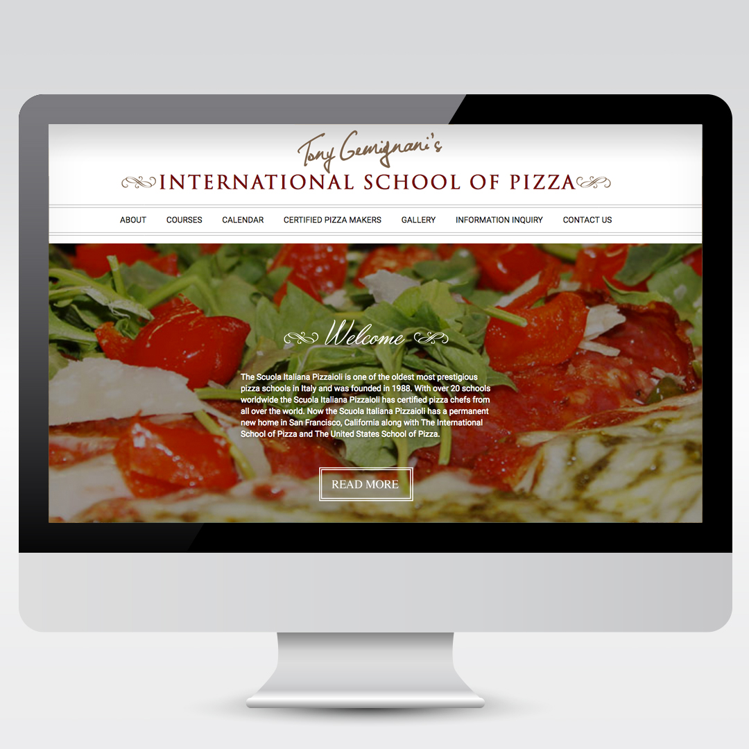 Tony Gemignani ISOP Pizza Restaurant Website Development Web Design