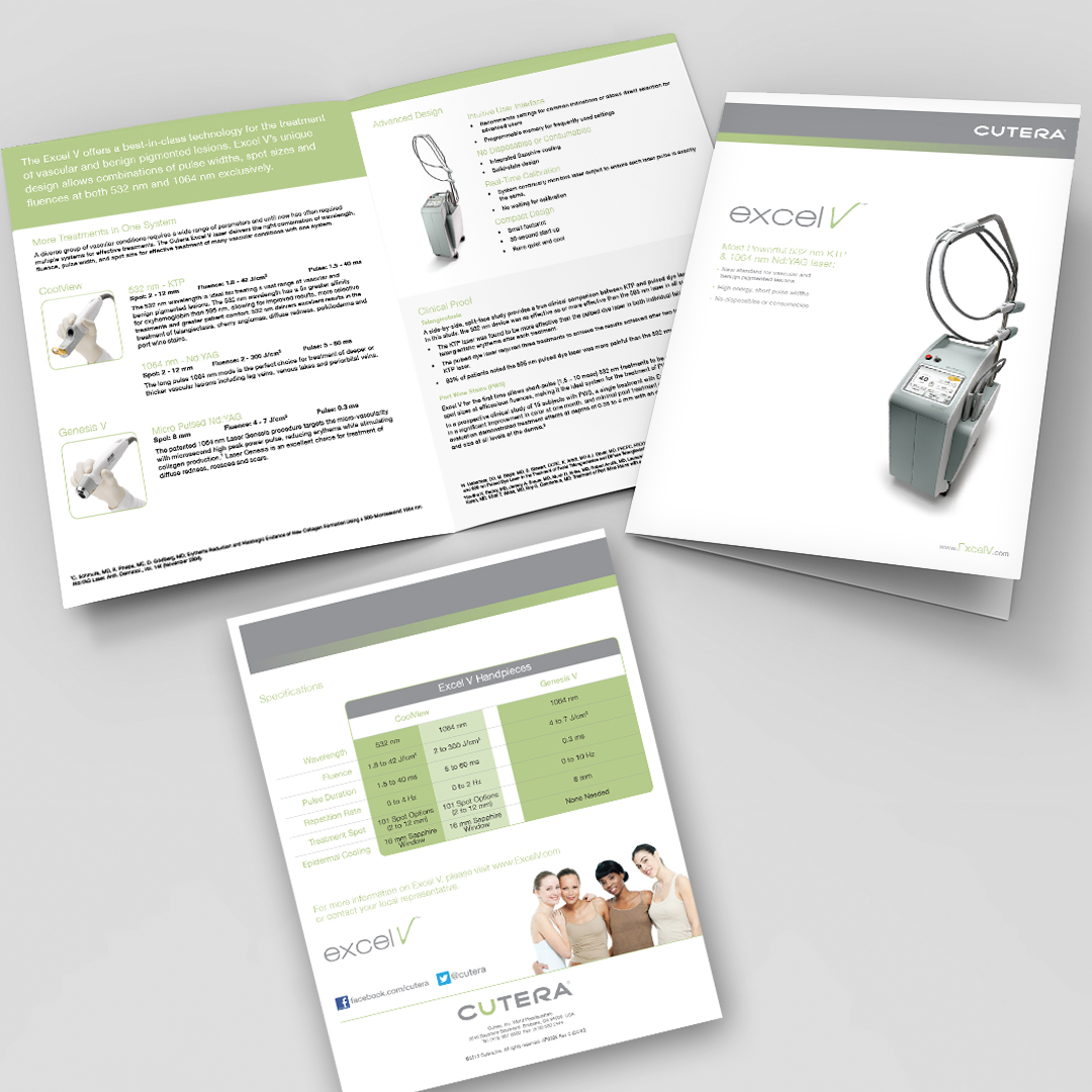 Cosmetic Aesthetic Laser Lasers Equipment Brochure Design