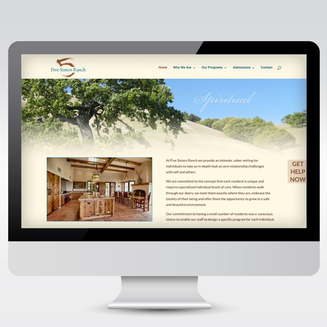 Retreat Website Development Web Design