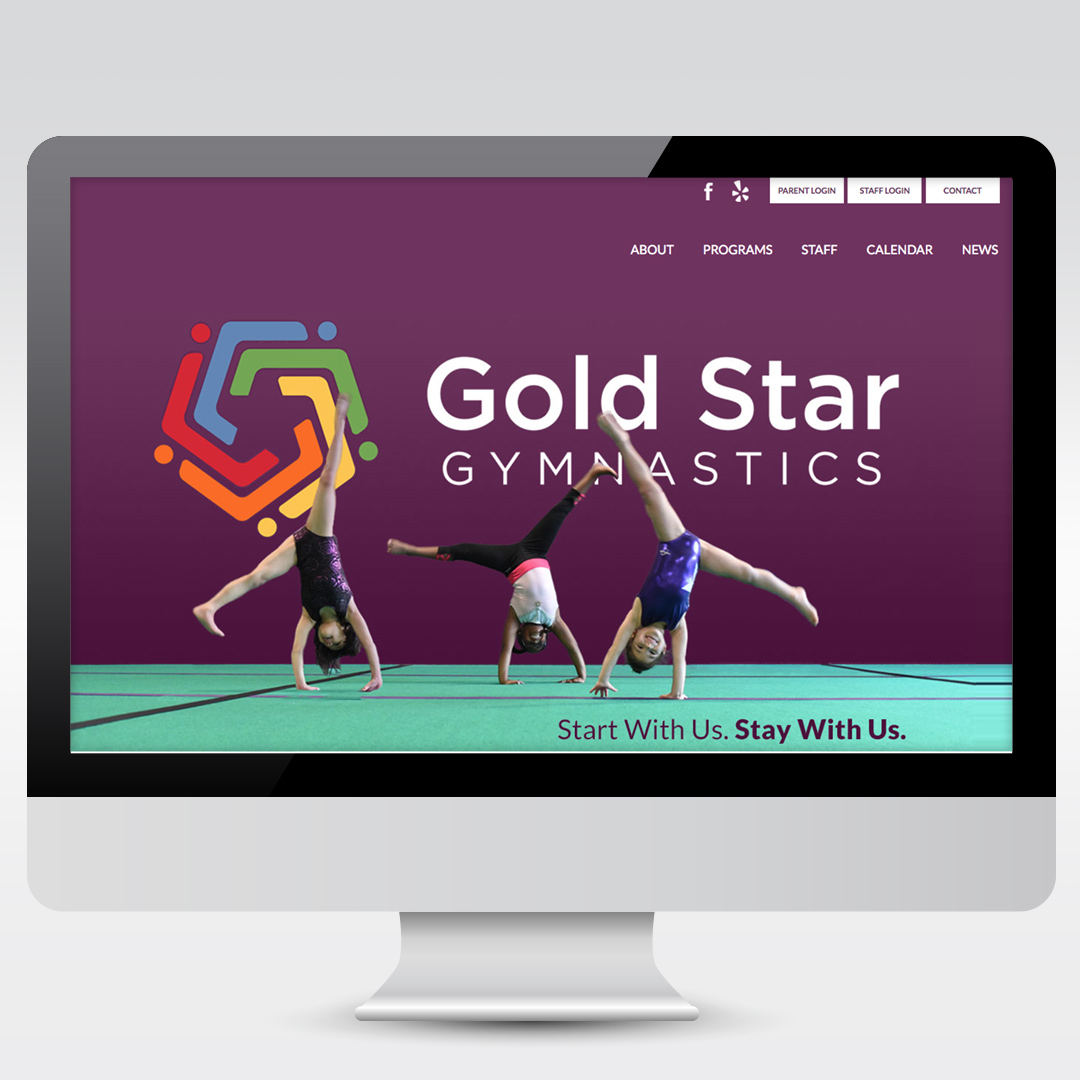 Small Business Gymnastics Classes Website Development Web Design