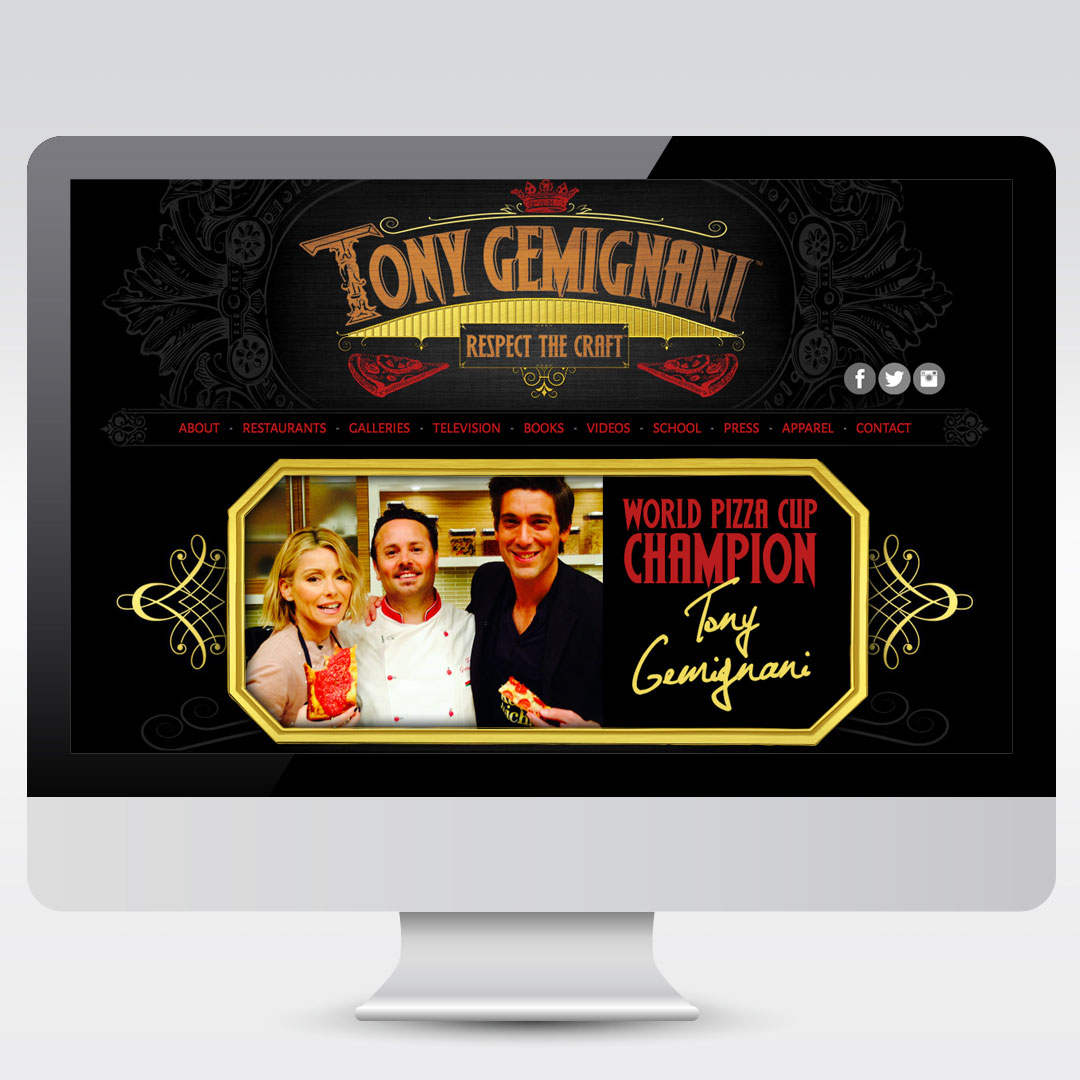 Tony Gemignani Personal Website Development Web Design