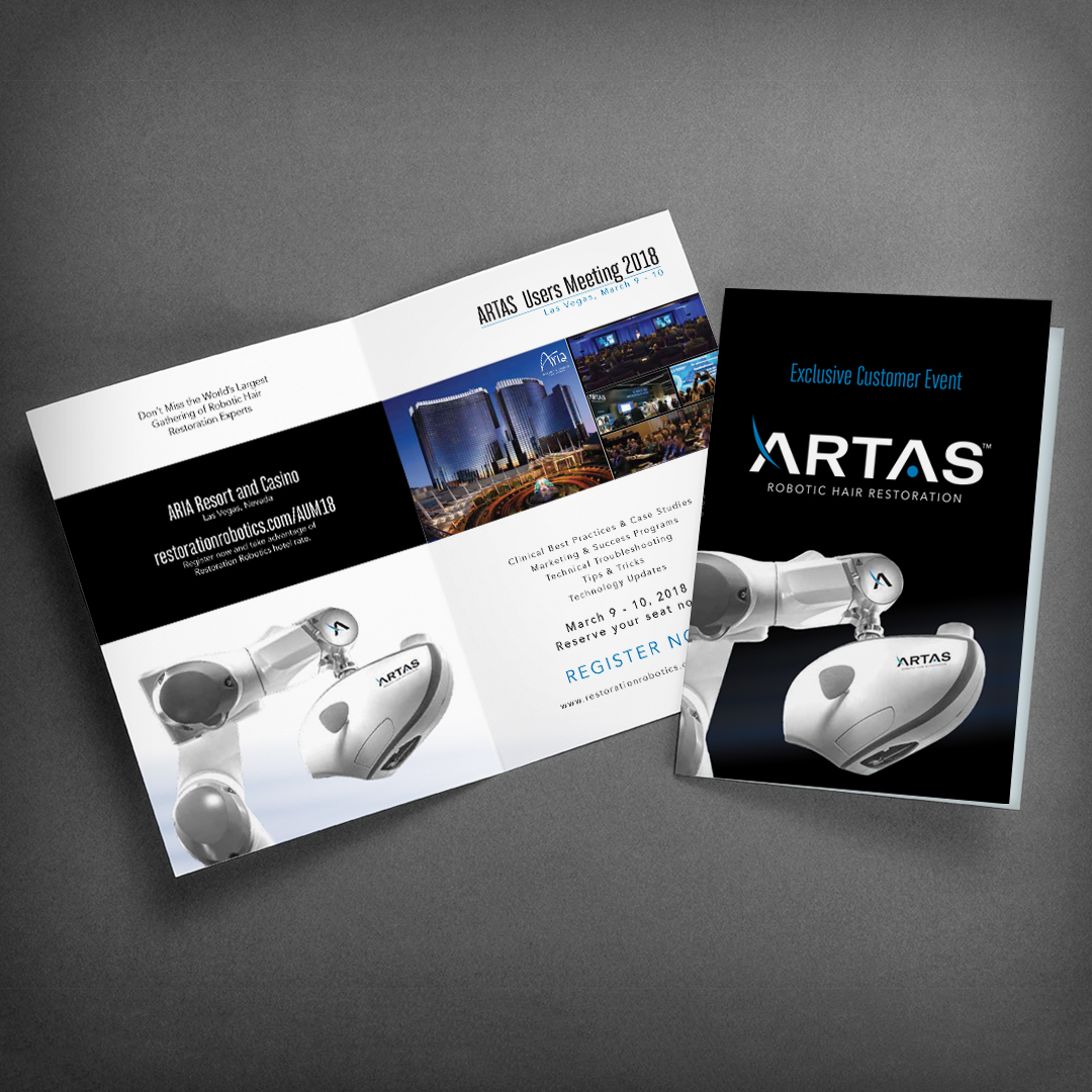 Hair Restoration Equipment Trade Show Brochure Design