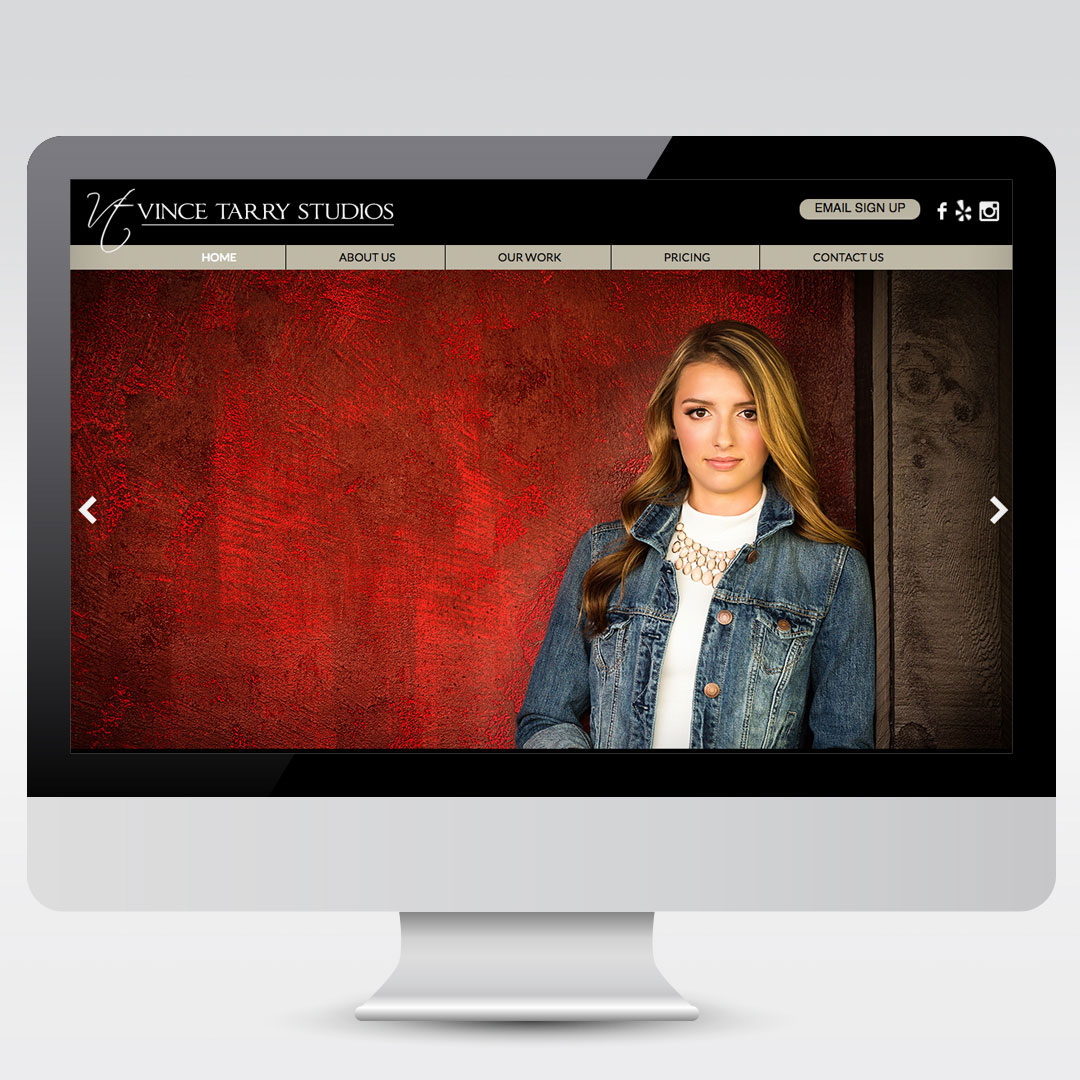 Vince Tarry Photography Photographer Website Development Web Design