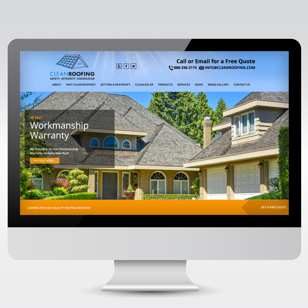 Roofing Business WordPress Website Design