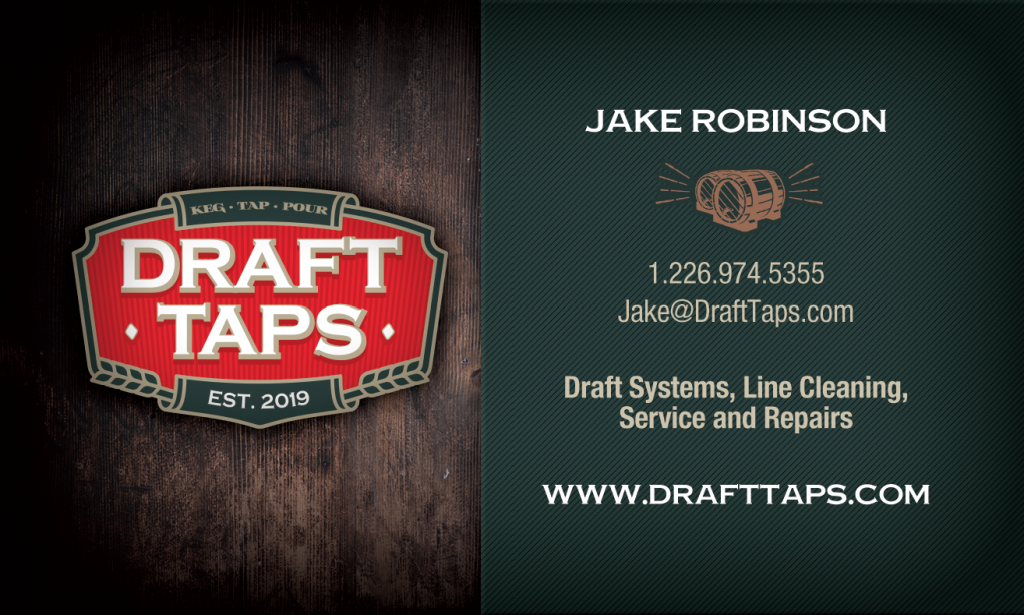 Draft Tap business card