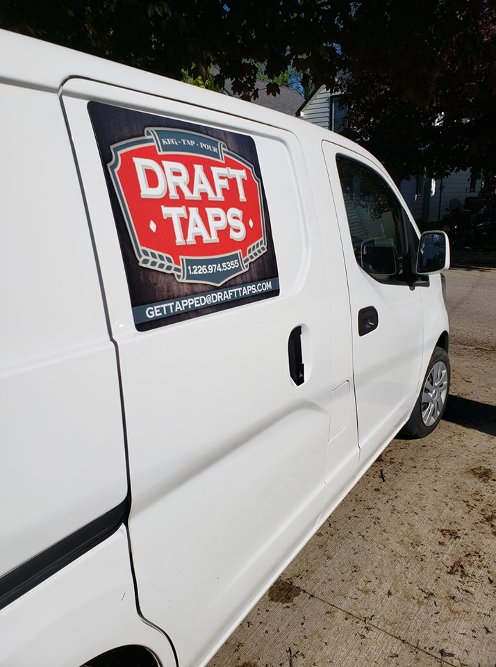 White Draft Taps Van