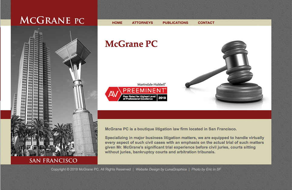 Previous version of McGrane website