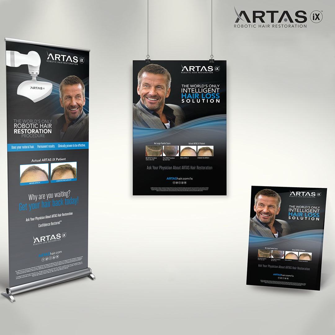Hair Restoration Medical Trade Show Designs