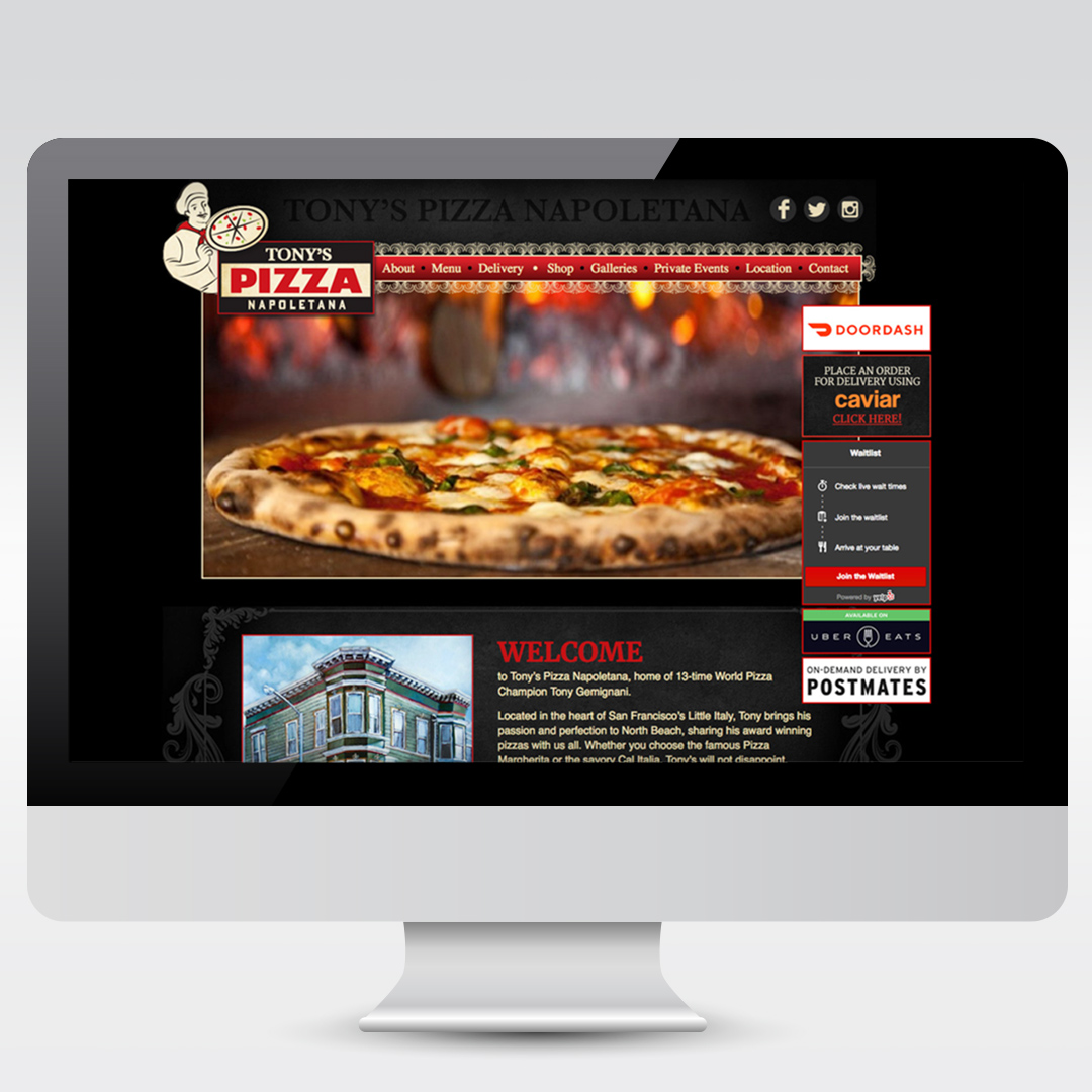 Restaurant and Pizzeria in the San Francisco Bay Area