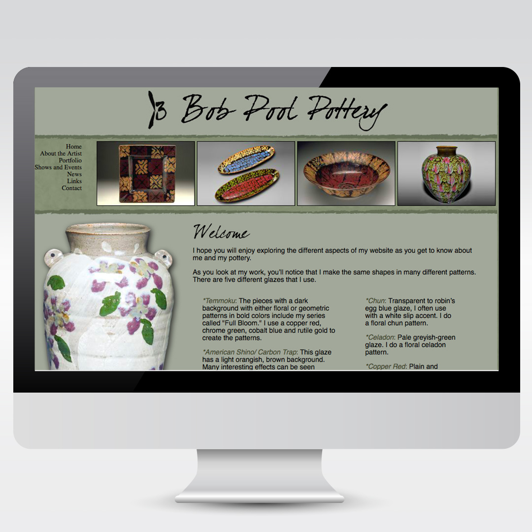Pottery Artist Bob Pool Website