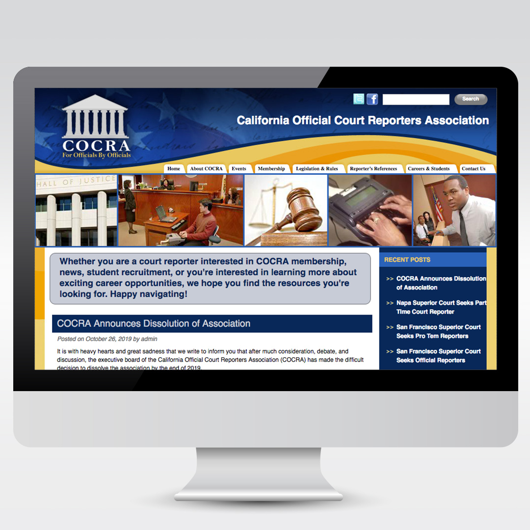 California Official Court Reporters Association Law Website
