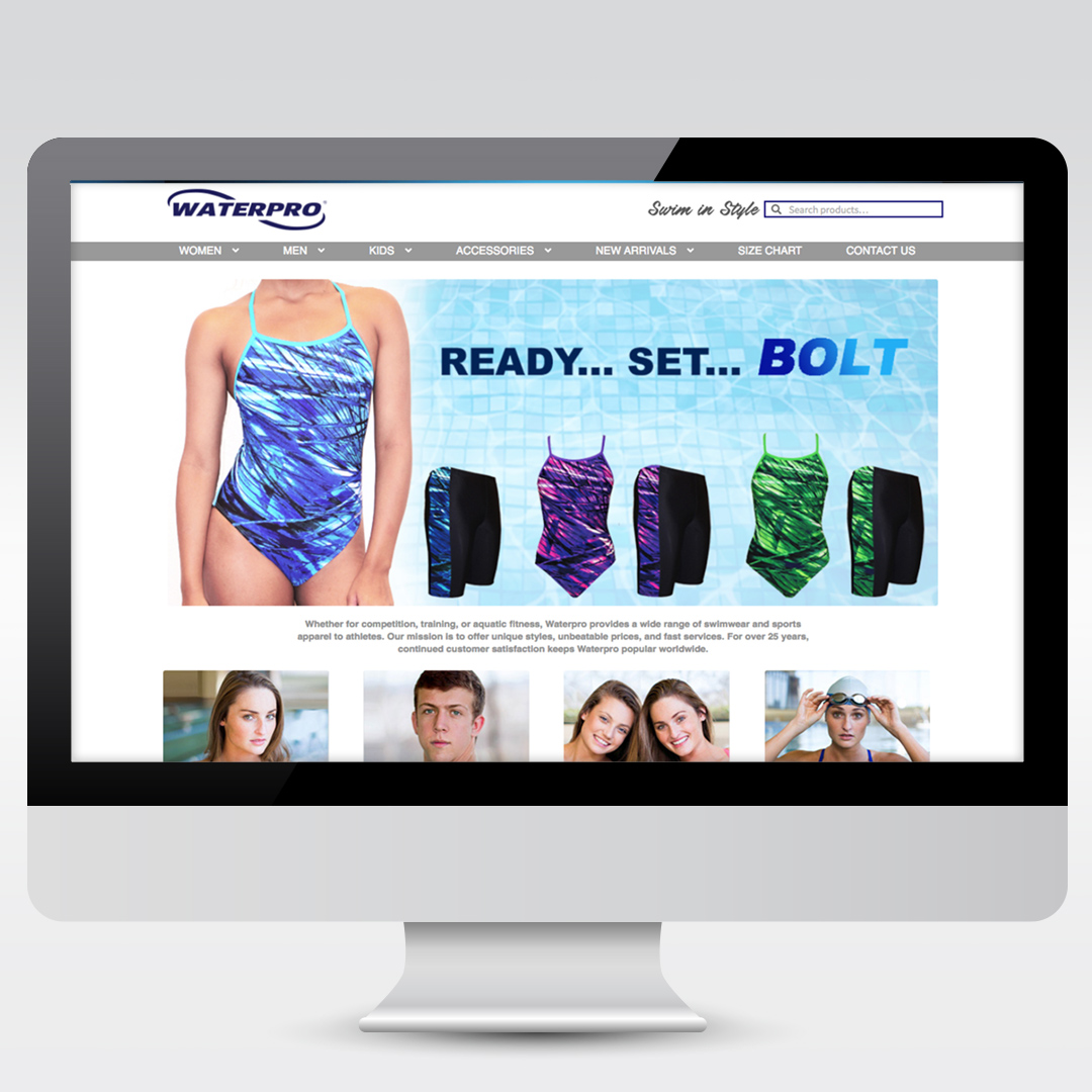 Swimming Apparel Website Website Design and Development