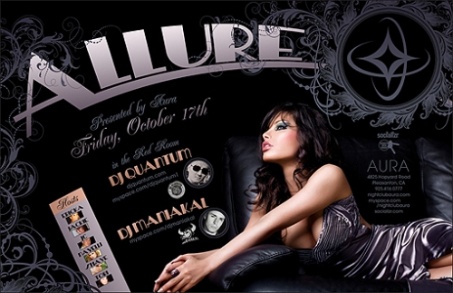 Allure Nightclub Flyer