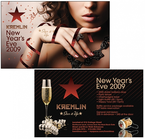 Kremlin New Year's Eve Flyer