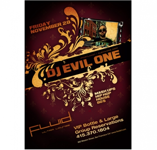 DJ Evil One Flyer