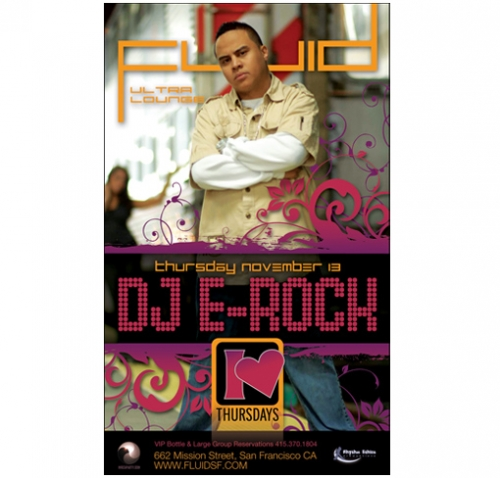 DJ E Rock Flyer Design