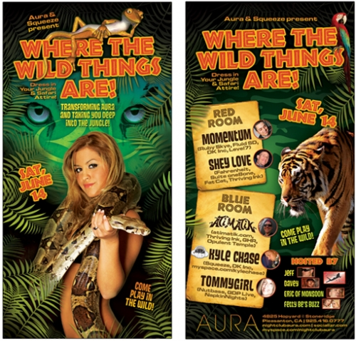 Where the Wild Things Are Nightclub Flyer
