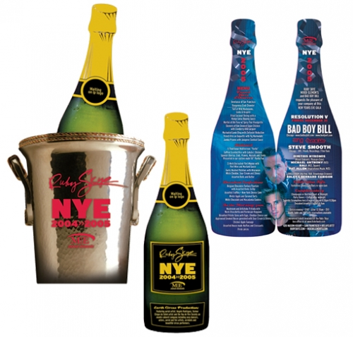 Champagne Bucket Diecut Flyer LunaGraphica