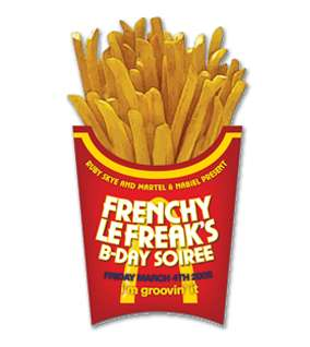 French Fry Diecut Flyer LunaGraphica