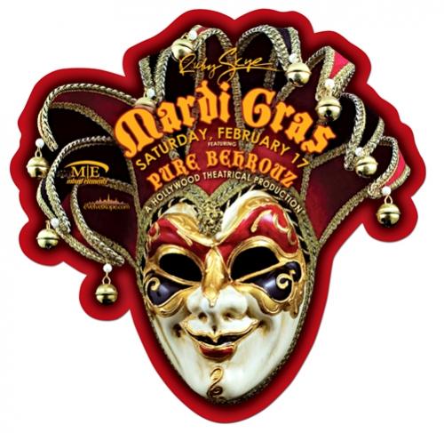 Mardi Gras Jester Mask Diecut