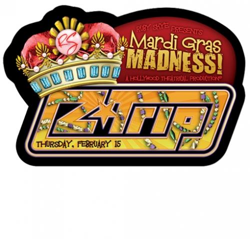 Mardi Gras King Diecut Flyer LunaGraphica