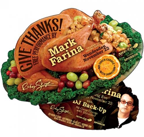 Thanksgiving Turkey Diecut Flyer LunaGraphica