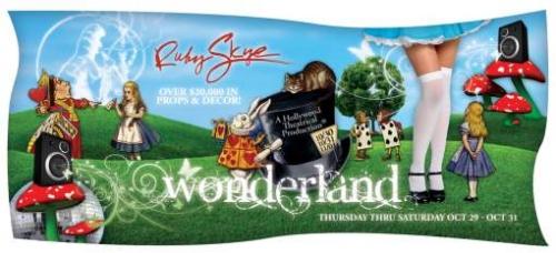 Wonderland Diecut Flyer LunaGraphica